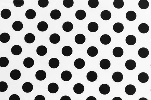 Polka Dot Lycra - black-white