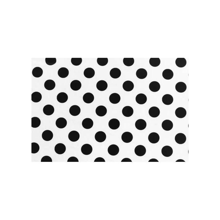 Polka Dot Lycra - black-white