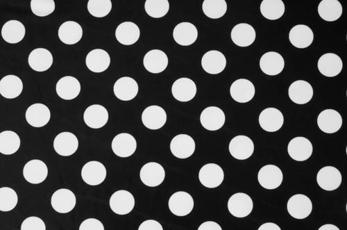 Polka Dot Lycra - white-black