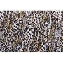 Textured Leopard - smooth velvet, natural