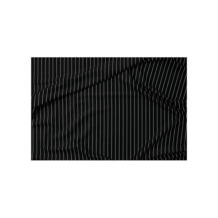 Pinstripe Lycra - black-white