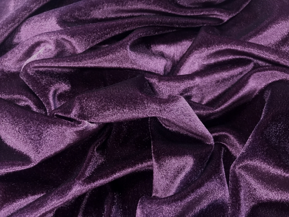 Smooth velvet CHR-C - plum