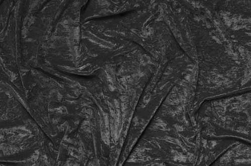 Crushed velvet DSI - black