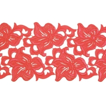Lilia Lace Ribbon - coral