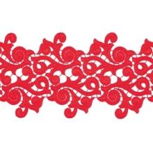 Lolita Lace Ribbon - scarlet