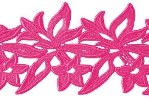 Sabrina Lace Ribbon - ruby