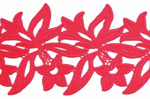 Sabrina Lace Ribbon - coral