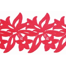 Sabrina Lace Ribbon - coral
