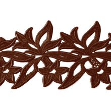 Sabrina Lace Ribbon - cocoa