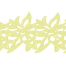 Sabrina Lace Ribbon - zircon