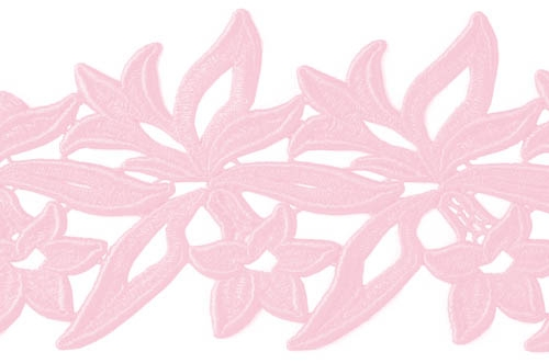 Sabrina Lace Ribbon - carnation