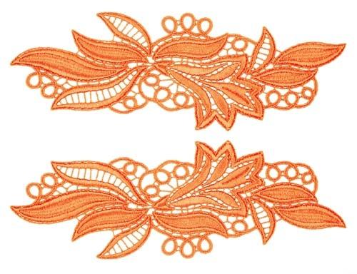 Maria Lace Pair - orange