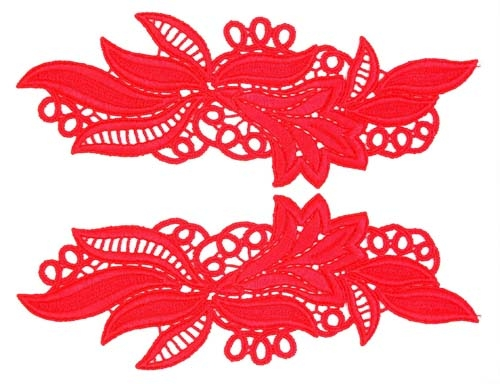 Maria Lace Pair - silver