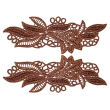 Maria Lace Pair - coral