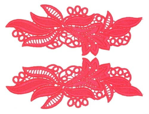 Maria Lace Pair - flamered