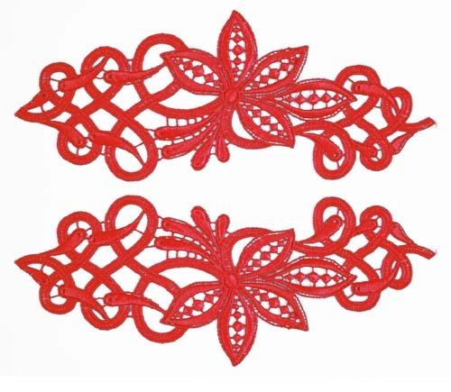 Sophia Lace Pair - scarlet