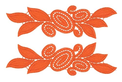 Laura Lace Pair - orange