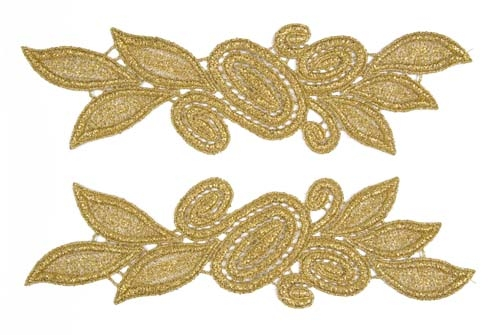 Laura Lace Pair - light gold