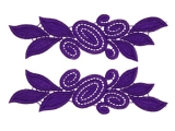 Laura Lace Pair - purple