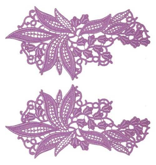 Sylvia Lace Pair - lilac