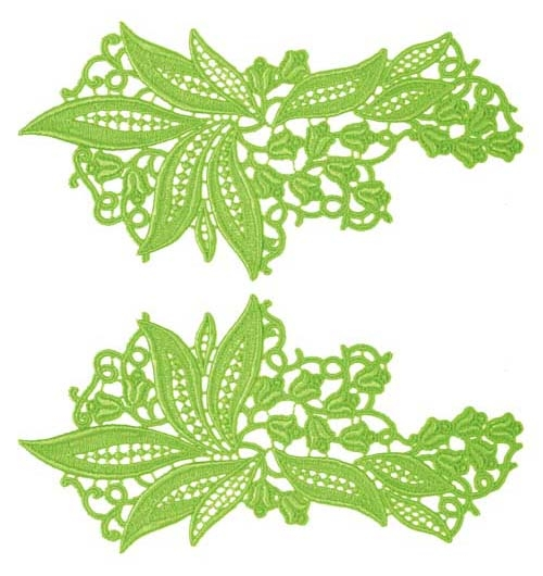 Sylvia Lace Pair - absinth