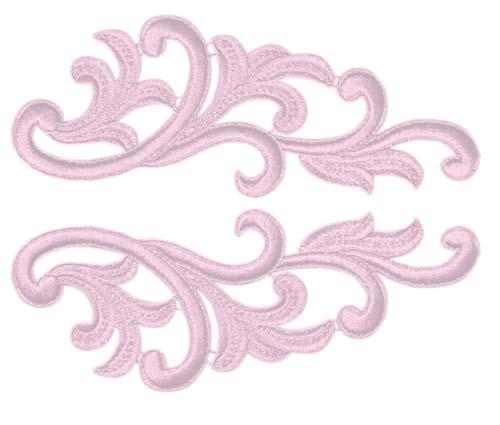 Serena Lace Pair - rosepink