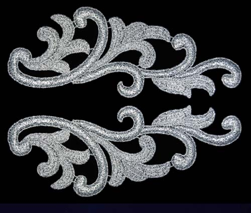 Serena Lace Pair - silver