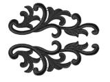 Serena Lace Pair - black