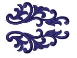 Serena Lace Pair - sapphire