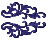 Serena Lace Pair <span class='shop_red small'>(sapphire)</span>