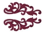 Serena Lace Pair - metalic cerise