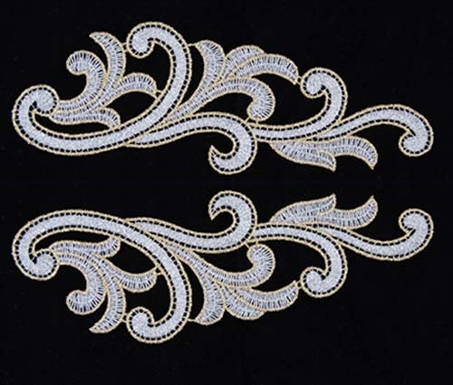 Serena Lace Pair - silver-gold