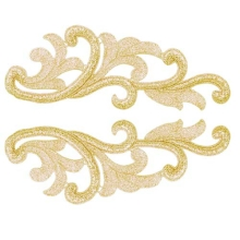 Serena Lace Pair - gold