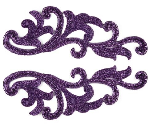 Serena Lace Pair - metalic purple