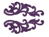 Serena Lace Pair - metalic purple