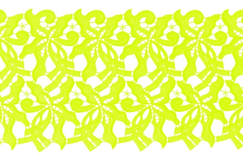 Claire Lace Ribbon - lime