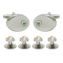 Silver oval - crystal AB