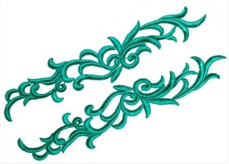 Petunia Lace Pair - metallic gold