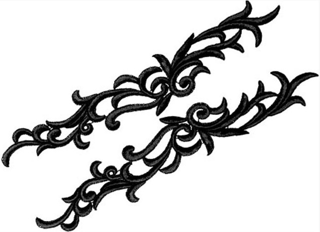 Petunia Lace Pair - blueberry