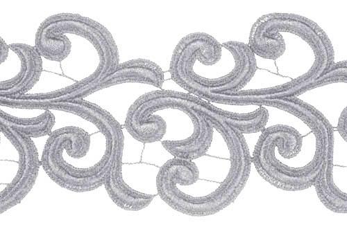 Nadine Lace Ribbon - silver