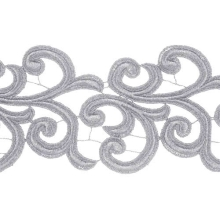 Nadine Lace Ribbon - silver