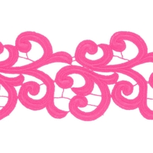 Nadine Lace Ribbon - cerise
