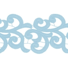 Nadine Lace Ribbon - pale turkus