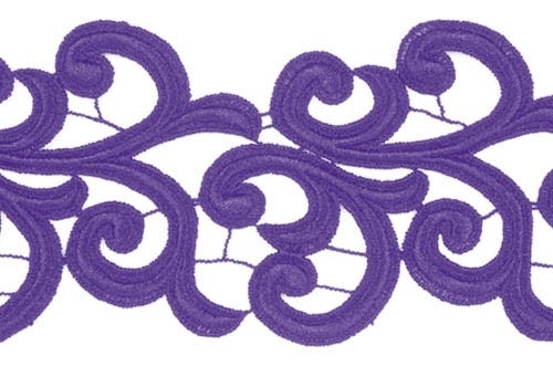 Nadine Lace Ribbon - purple