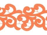 Nadine Lace Ribbon - orange