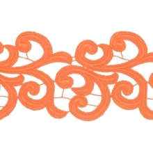Nadine Lace Ribbon - orange