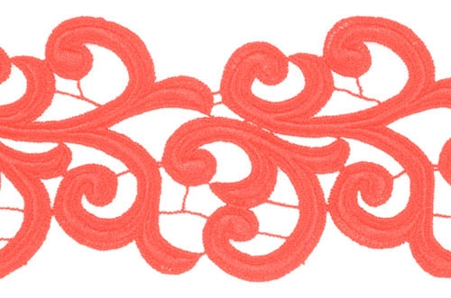 Nadine Lace Ribbon - flamered