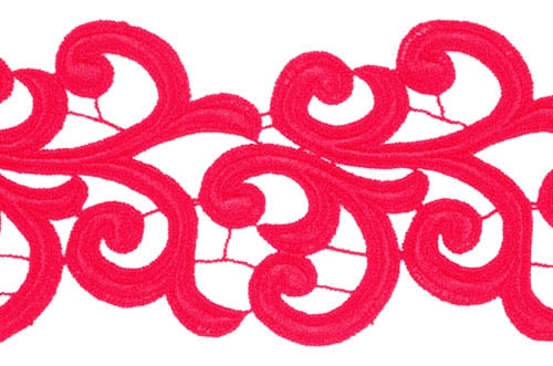 Nadine Lace Ribbon - scarlet