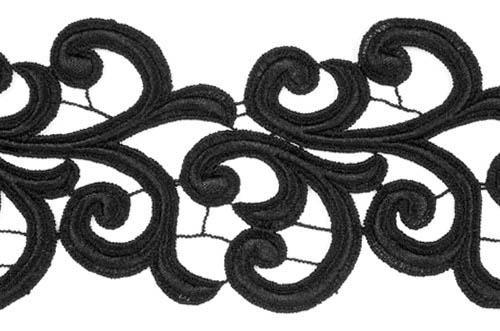 Nadine Lace Ribbon - black