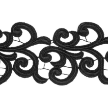 Nadine Lace Ribbon - black